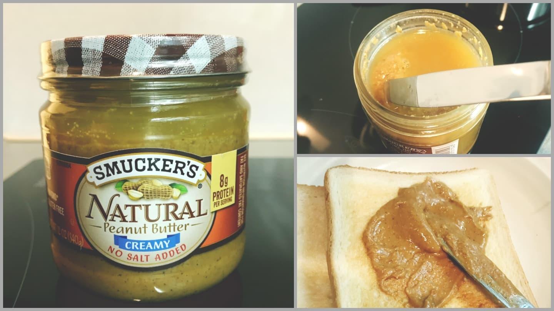 100%ピーナッツのスマッカーズピーナッツバターはタンパク質豊富で筋トレ食にもGOOD!