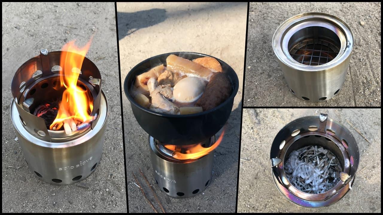 キャンプ飯をソロストーブの一人焚き火で作る【ウッドストーブ・使用レポート】